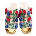 Tory Burch Leather Embroidered Multicolor Sandals Image 1