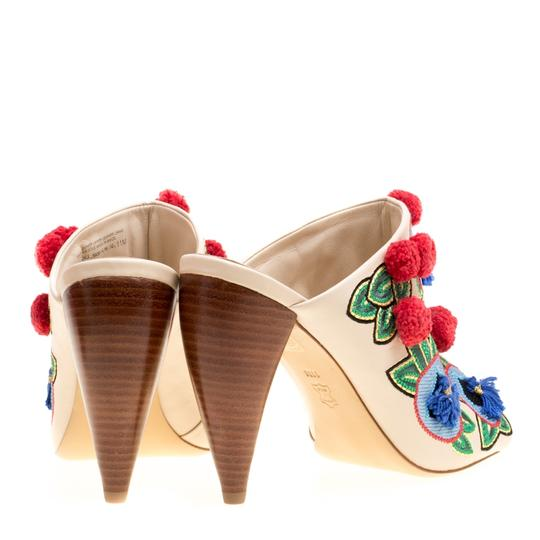 Tory Burch Leather Embroidered Multicolor Sandals Image 2