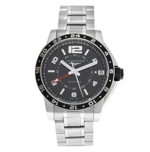 Longines Men's Longines Admiral GMT L3.668.4.56.6 Steel 42MM Automatic