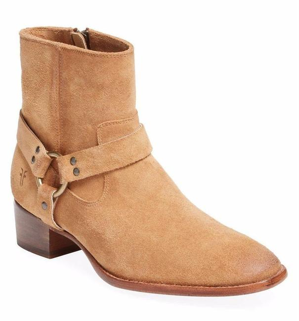 Item - Sand Suede Leather Harness Boots/Booties Size US 6.5 Regular (M, B)