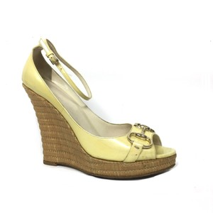 Gucci Yellow Wedges