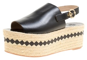Tory Burch Leather Rubber Black Sandals