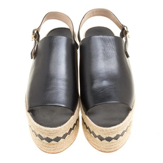 Tory Burch Leather Rubber Black Sandals Image 1
