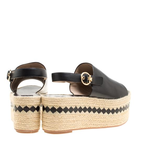 Tory Burch Leather Rubber Black Sandals Image 2
