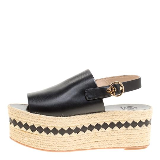Tory Burch Leather Rubber Black Sandals Image 4