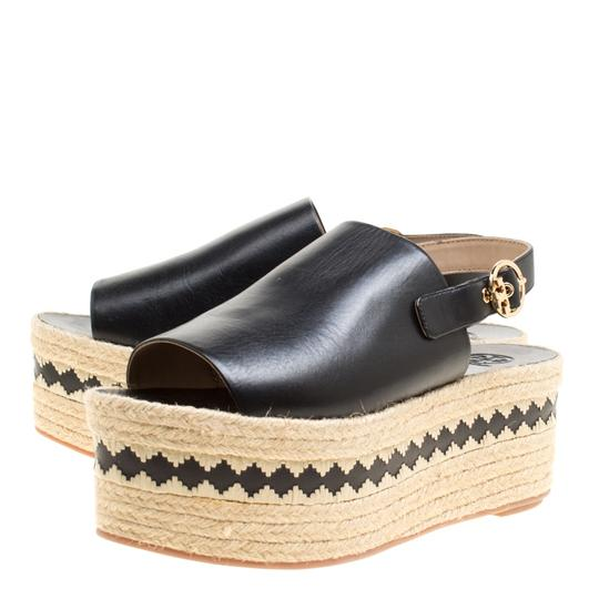 Tory Burch Leather Rubber Black Sandals Image 5