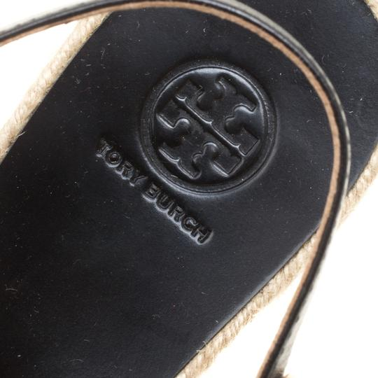 Tory Burch Leather Rubber Black Sandals Image 6