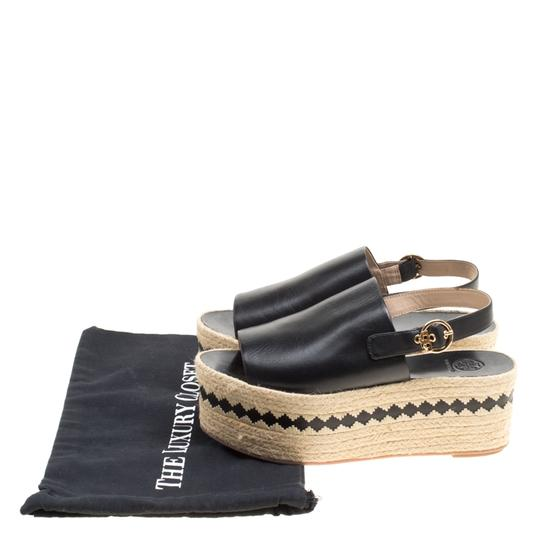 Tory Burch Leather Rubber Black Sandals Image 7