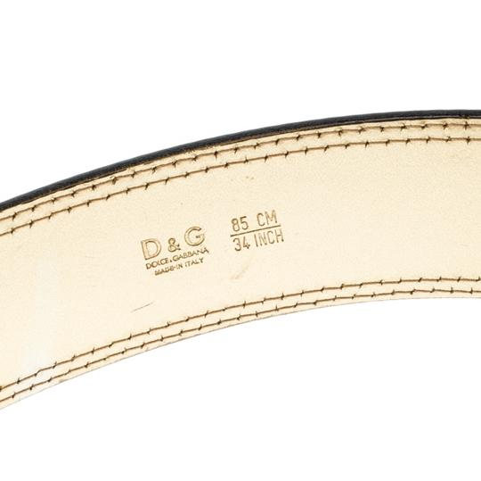 Dolce&Gabbana Beige/Gold Leopard Print Calfhair and Leather Belt 85CM Image 4
