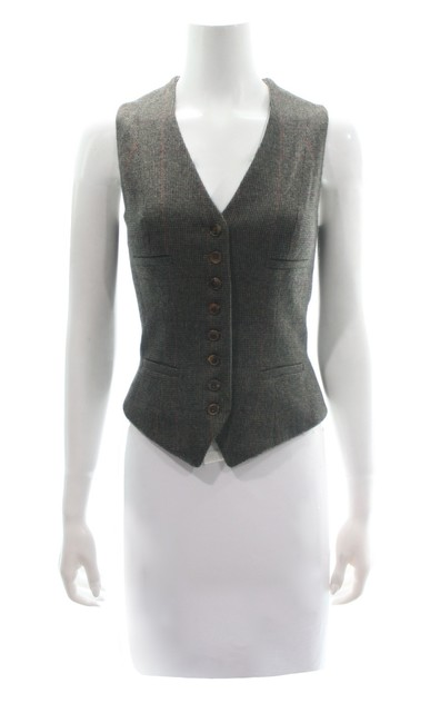 Item - Brown Collection Lambswool & Angora Blend Vest Size 8 (M)