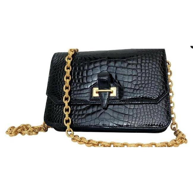 Item - New Handbag Black Crocodile Shoulder Bag