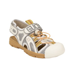 Gucci Leather Summer Rubber Mesh White Sandals