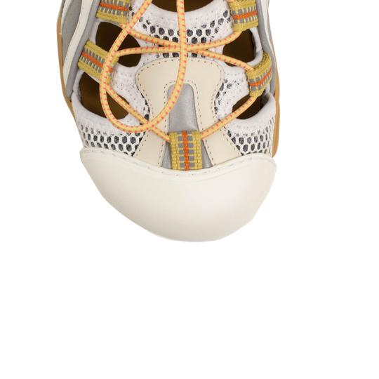 Gucci Leather Summer Rubber Mesh White Sandals Image 4