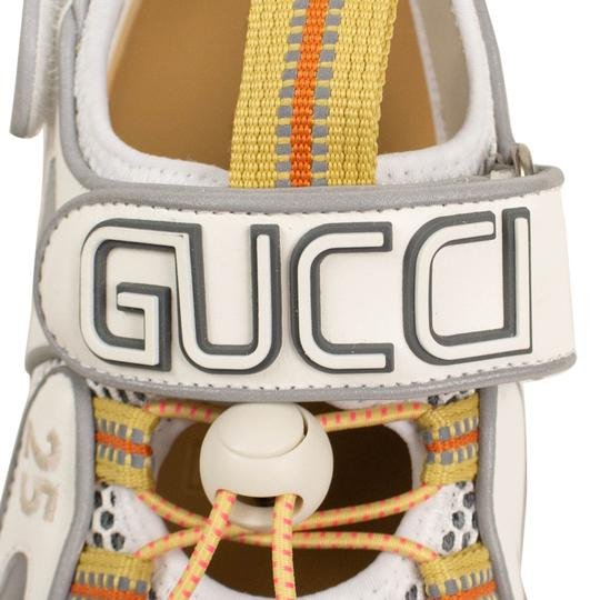 Gucci Leather Summer Rubber Mesh White Sandals Image 5