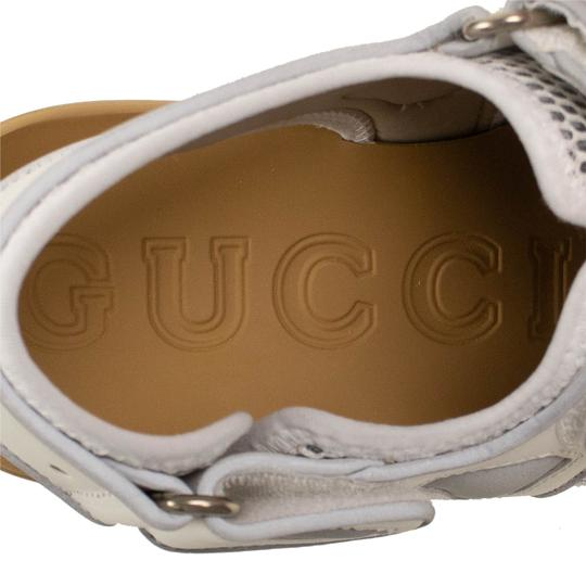 Gucci Leather Summer Rubber Mesh White Sandals Image 7