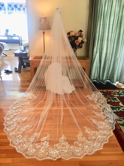 Long New White Or Ivory 3m/10 Ft Cathedral with Comb Bridal Veil Image 3