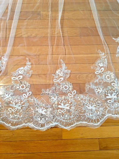 Long New White Or Ivory 3m/10 Ft Cathedral with Comb Bridal Veil Image 4
