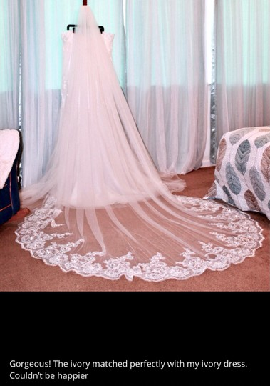 Long New White Or Ivory 3m/10 Ft Cathedral with Comb Bridal Veil Image 5