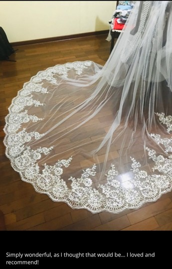 Long New White Or Ivory 3m/10 Ft Cathedral with Comb Bridal Veil Image 6