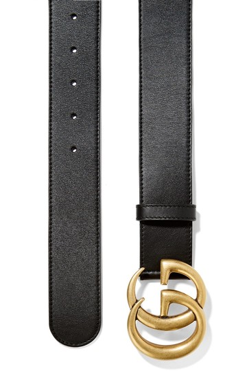 Gucci GUCCI GG LOGO Leather belt SIZE 90 WIDE 4CM Image 1