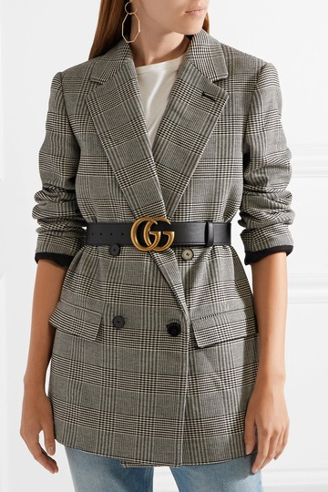 Gucci GUCCI GG LOGO Leather belt SIZE 90 WIDE 4CM Image 2