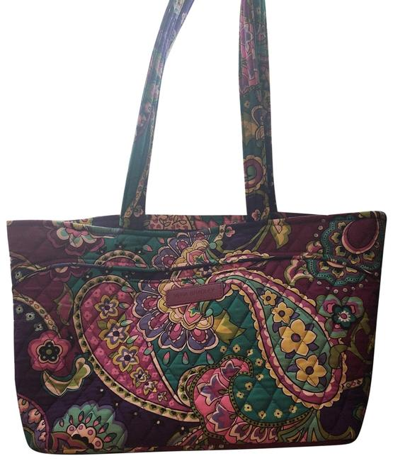 Item - Quilted Stitch Multi Color- Purple Pink and Free Cotton Weekend/Travel Bag