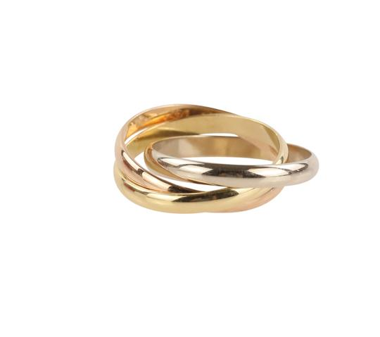 Cartier Cartier Classic Trinity 18k Tricolor Gold Ring Image 1