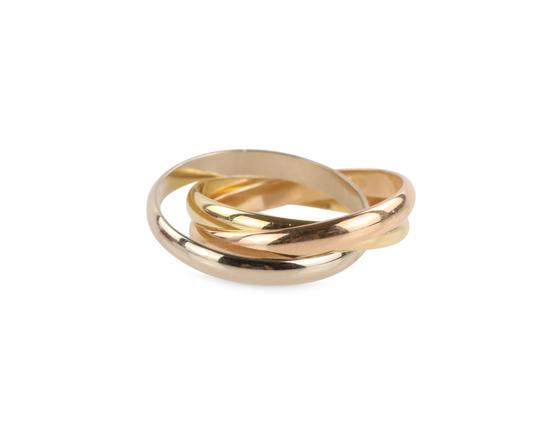 Cartier Cartier Classic Trinity 18k Tricolor Gold Ring Image 8