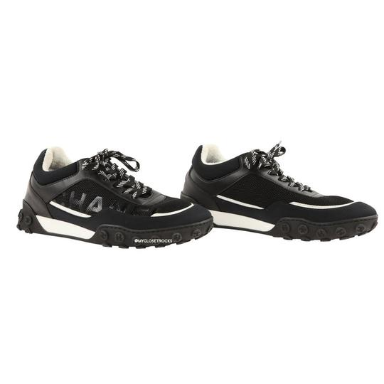 Chanel Mesh Lycra Sneakers Black Athletic Image 0