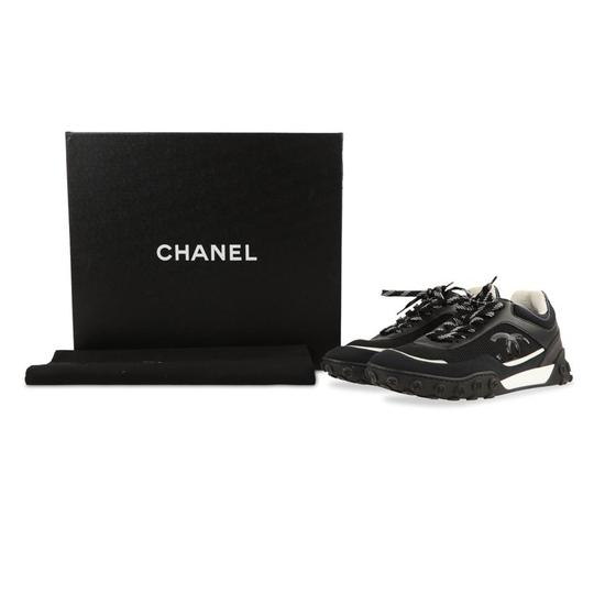 Chanel Mesh Lycra Sneakers Black Athletic Image 1
