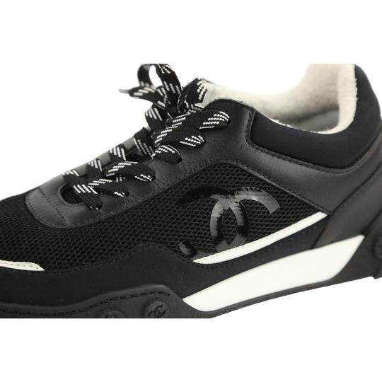 Chanel Mesh Lycra Sneakers Black Athletic Image 4