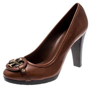 Tory Burch Leather Brown Pumps