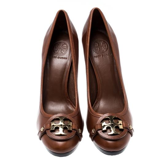 Tory Burch Leather Brown Pumps Image 1