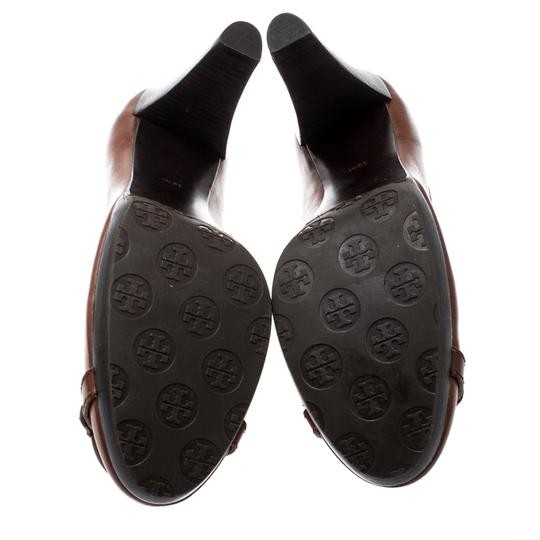 Tory Burch Leather Brown Pumps Image 3