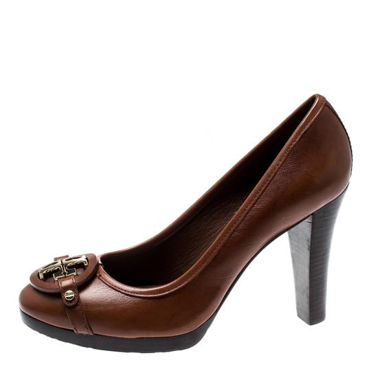 Tory Burch Leather Brown Pumps Image 5