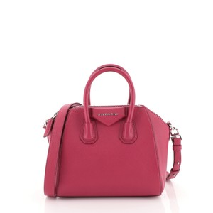 Givenchy Antigona Leather Satchel in pink