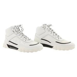 Chanel Lycra Mesh High Top Leather White Athletic