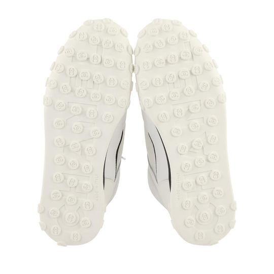 Chanel Lycra Mesh High Top Leather White Athletic Image 3