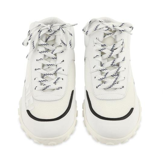 Chanel Lycra Mesh High Top Leather White Athletic Image 5