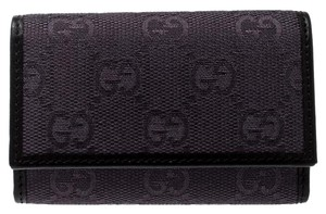 Gucci Lilac/Black GG Canvas and Leather 6 Key Case