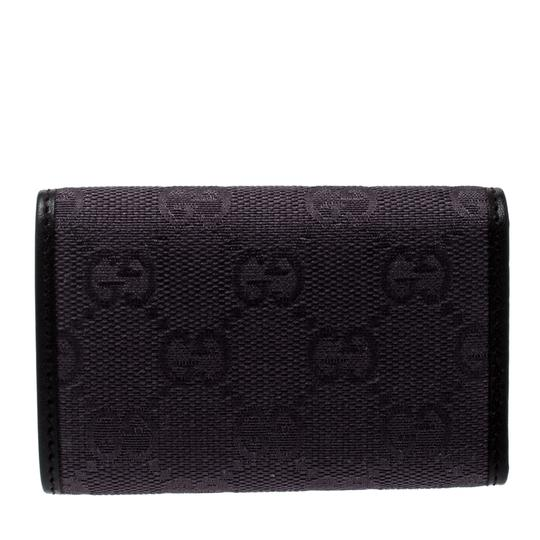 Gucci Lilac/Black GG Canvas and Leather 6 Key Case Image 1