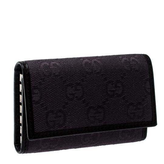 Gucci Lilac/Black GG Canvas and Leather 6 Key Case Image 2
