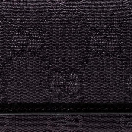 Gucci Lilac/Black GG Canvas and Leather 6 Key Case Image 6