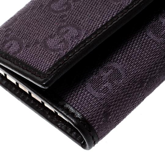 Gucci Lilac/Black GG Canvas and Leather 6 Key Case Image 7