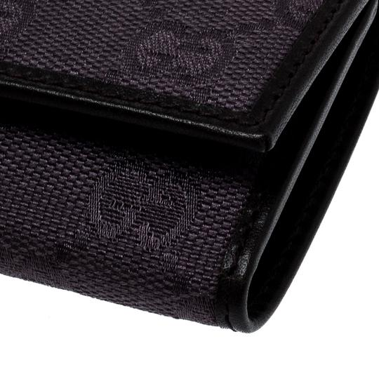 Gucci Lilac/Black GG Canvas and Leather 6 Key Case Image 8
