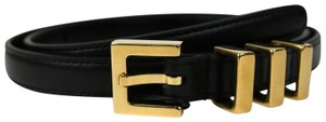 Saint Laurent Black Leather CLASSIC 3 PASSANTS Belt 75/30 314629 BOR0J 1000 - item med img