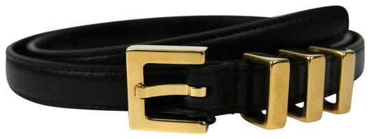 Saint Laurent Black Leather CLASSIC 3 PASSANTS Belt 75/30 314629 BOR0J 1000 Image 0