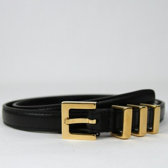 Saint Laurent Black Leather CLASSIC 3 PASSANTS Belt 75/30 314629 BOR0J 1000 Image 1