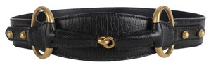 Gucci Gucci Leather Horsebit Belt 7654 Near New
