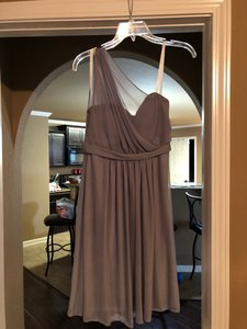 David's Bridal Gray Bridesmaid Feminine Wedding Dress Size 2 (XS)